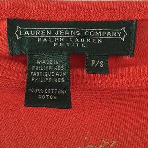 Ralph Lauren Tops - Lauren Jeans Company Orange and Gold T-Shirt